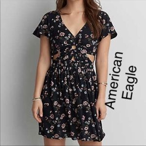American Eagle Outfitters Black Floral Dress